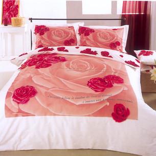 Постельное белье Le Vele VALENTINE хлопковый сатин делюкс розовый 1,5 спальный