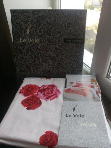 Постельное белье Le Vele VALENTINE хлопковый сатин делюкс розовый евро, фото, фотография