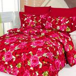 Постельное белье Le Vele CHANTALLE хлопковый сатин делюкс красный евро, фото, фотография