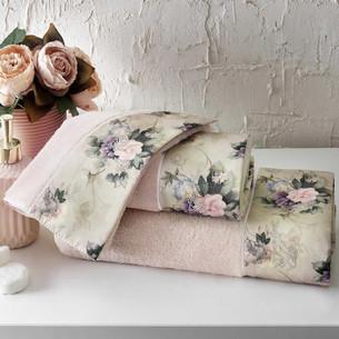 Подарочный набор полотенец для ванной 3 пр. + спрей Tivolyo Home BELISSA хлопковая махра