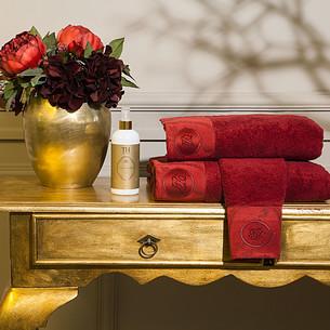Подарочный набор полотенец для ванной 3 пр. + спрей Tivolyo Home BORDEAUX хлопковая махра
