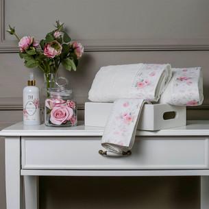 Подарочный набор полотенец для ванной 3 пр. + спрей Tivolyo Home CHERISH хлопковая махра кремовый