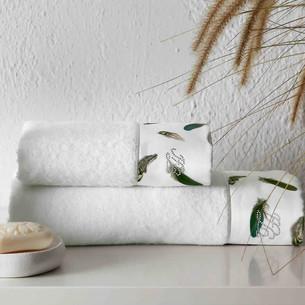 Подарочный набор полотенец для ванной 2 пр. Tivolyo Home GALA хлопковая махра кремовый