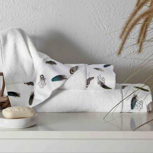 Подарочный набор полотенец для ванной 3 пр. + спрей Tivolyo Home GALA хлопковая махра кремовый