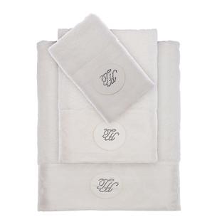 Подарочный набор полотенец для ванной 3 пр. + спрей Tivolyo Home GRANT хлопковая махра белый