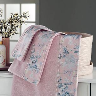 Подарочный набор полотенец для ванной 3 пр. + спрей Tivolyo Home HENA хлопковая махра