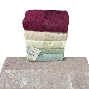Набор полотенец для ванной 6 шт. Karacan HAWAI хлопковая махра 70х140