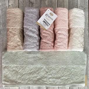 Набор полотенец для ванной 6 шт. Karacan LINENS хлопковая махра 50х90