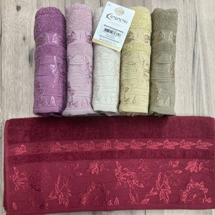 Набор полотенец для ванной 6 шт. Karacan MELISA хлопковая махра 70х140