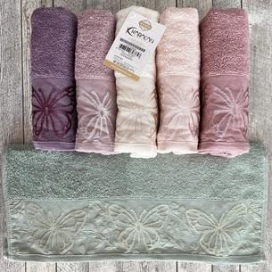 Набор полотенец для ванной 6 шт. Karacan PAPILLO хлопковая махра 30х50