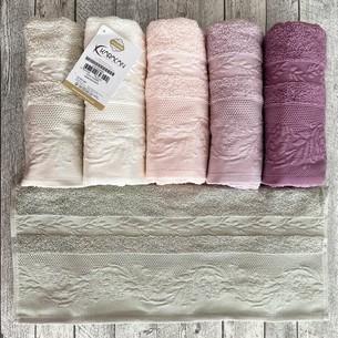 Набор полотенец для ванной 6 шт. Karacan YASEMIN хлопковая махра 70х140