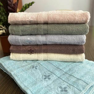 Набор полотенец для ванной 6 шт. Miss Cotton CELENK хлопковая махра 50х90