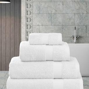 Полотенце для ванной Karna AREL хлопковая махра белый 70х140