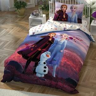 Детское постельное белье TAC FROZEN 2 AUTUMN хлопковый ранфорс 1,5 спальный