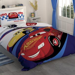 Детское постельное белье TAC CARS RACE хлопковый ранфорс 1,5 спальный