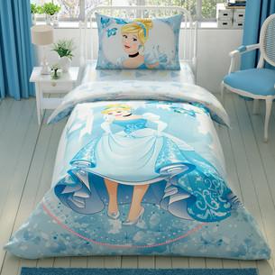 Детское постельное белье TAC CINDERELLA FOREVER хлопковый ранфорс 1,5 спальный