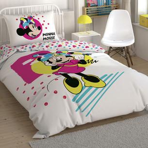 Детское постельное белье TAC MINNIE COLOR MAYHEM хлопковый ранфорс 1,5 спальный