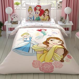 Детское постельное белье TAC PRINCESS GIRL POWER хлопковый ранфорс 1,5 спальный