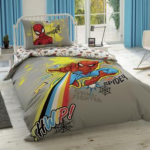 Детское постельное белье TAC SPIDERMAN POWER хлопковый ранфорс 1,5 спальный