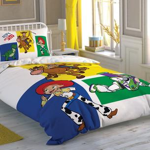 Детское постельное белье TAC TOY STORY 4 ADVENTURE хлопковый ранфорс 1,5 спальный