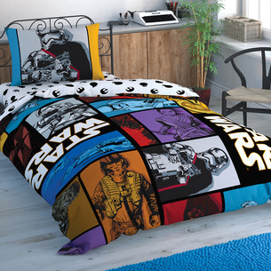 Детское постельное белье TAC STAR WARS FORCE AWAKENS хлопковый ранфорс 1,5 спальный