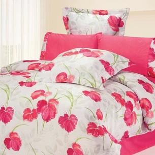 Постельное белье Le Vele LUCIA сатин, жатый шёлк розовый евро