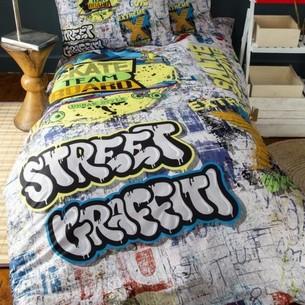 Комплект подросткового постельного белья Issimo Home FREE BOY хлопковый ранфорс серый 1,5 спальный
