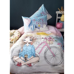 Комплект подросткового постельного белья Issimo Home COZY GIRL хлопковый ранфорс пудра 1,5 спальный