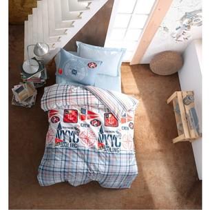 Детское постельное белье Cotton Box GIRLS & BOYS CRUISE хлопковый ранфорс синий 1,5 спальный