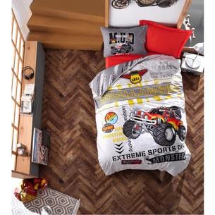 Постельное белье детское Cotton Box JUNIOR MONSTER хлопковый ранфорс красный 1,5 спальный