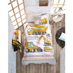 Постельное белье детское Cotton Box JUNIOR TRACK хлопковый ранфорс бирюзовый 1,5 спальный