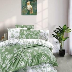 Постельное белье Ecosse RANFORCE FOREST хлопковый ранфорс зелёный семейный