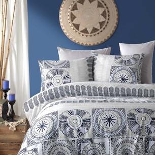 Постельное белье Istanbul Home Collection RANFORCE HOLLY хлопковый ранфорс синий евро