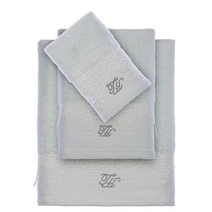Подарочный набор полотенец для ванной 3 пр. + тапочки Tivolyo Home JULIET хлопковая махра бирюзовый