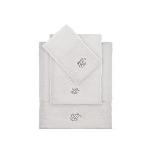 Подарочный набор полотенец для ванной 3 пр. + тапочки Tivolyo Home JULIET хлопковая махра кремовый