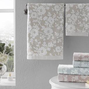 Подарочный набор полотенец для ванной 2 пр. Tivolyo Home LORI хлопковая махра розовый