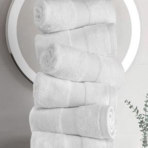 Набор полотенец для ванной 6 шт. Karna AREL махра хлопок белый 30х50