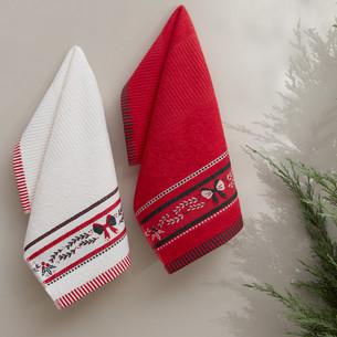 Набор кухонных полотенец 30х50(2) Karna CHRISTMAS хлопковая махра V3