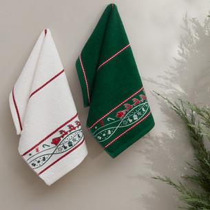 Набор кухонных полотенец 30х50(2) Karna CHRISTMAS хлопковая махра V2