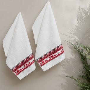 Набор кухонных полотенец 30х50(2) Karna CHRISTMAS хлопковая махра V5