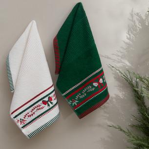 Набор кухонных полотенец 30х50(2) Karna CHRISTMAS хлопковая махра V4