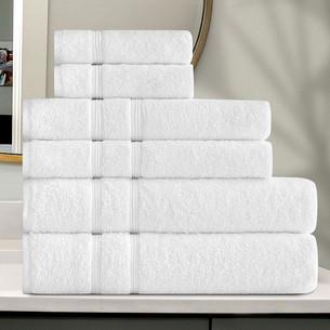 Подарочный набор полотенец для ванной 30x50 (2), 50х90(2), 70х140(2) Karna GAMA хлопковая махра белый