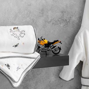 Детское полотенце-уголок Tivolyo Home PIRATES хлопковая махра 90х90