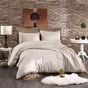 Постельное белье Grazie Home ALIX хлопковый сатин делюкс тёмно-коричневый+коричневый евро