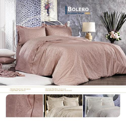 Постельное белье Grazie Home BOLERO хлопковый сатин-жаккард делюкс пудра евро, фото, фотография