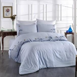 Постельное белье Grazie Home D'OR хлопковый сатин делюкс голубой евро