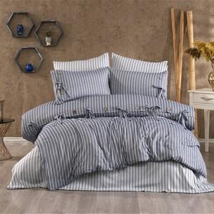 Постельное белье Grazie Home D'OR хлопковый сатин делюкс тёмно-синий евро