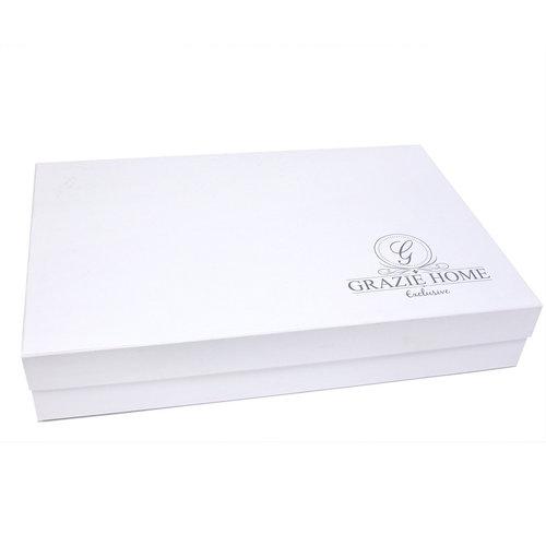 Постельное белье Grazie Home ELITE хлопковый сатин делюкс коричневый+кремовый евро, фото, фотография