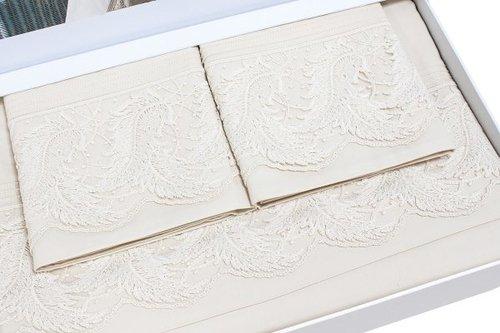 Постельное белье Grazie Home KATYA хлопковый сатин делюкс кремовый евро, фото, фотография