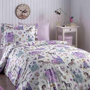 Детское постельное белье Tivolyo Home PRINCESS хлопковый сатин делюкс 1,5 спальный